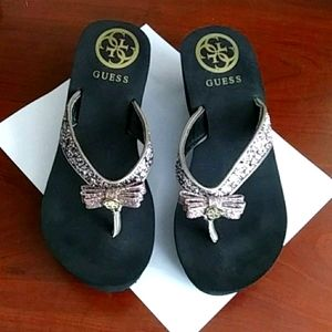 💜Guess Glitter Wedges Size 7.5